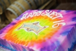 Psychedelic Sweet 16 tie dye cake